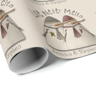 Snow Couple Customizable Wrapping Paper