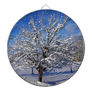 Snow covered Apple tree Dartboard