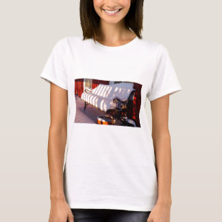 Snow covered bench T-Shirt