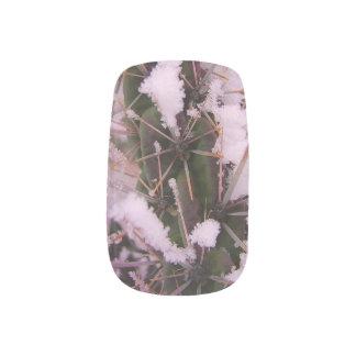 Snow Covered Cactus Nail Art