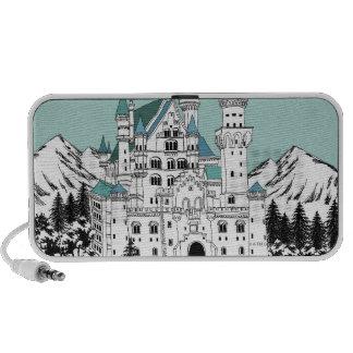 Snow Covered Castle Notebook Speaker