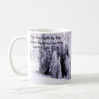 Snow covered coffee mug
