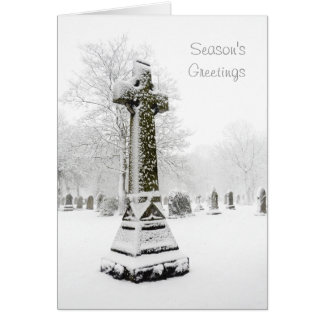 Snow Covered Cross - Personalizable Christmas Card