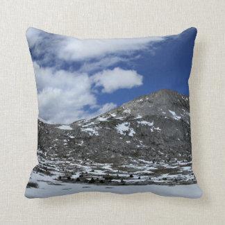 Snow Covered Donahue Pass - John Muir TraIl Throw Pillow