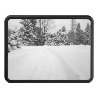 Snow Covered Driveway Trailer Hitch Cover