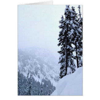 Snow Covered Forest Blank Greeting Card