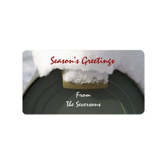 Snow Covered Mailbox Christmas Gift Tags