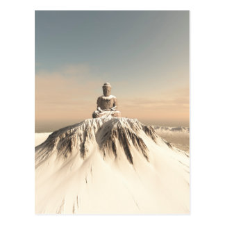 Snow Covered Mountain Buddha Postcard