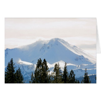 Snow covered mountain card