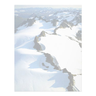Snow-covered Mountain Peaks - Aerial View Letterhead
