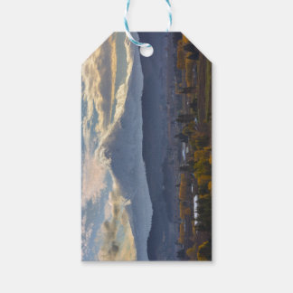 Snow covered Mt Hood in Oregon Fall season Gift Tags