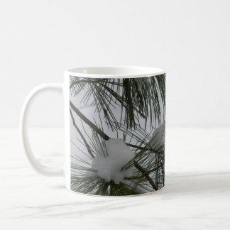 Snow Covered Pine Needles Basic White Mug