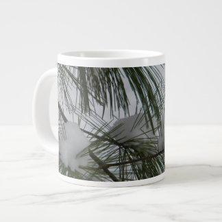 Snow Covered Pine Needles Jumbo Mug