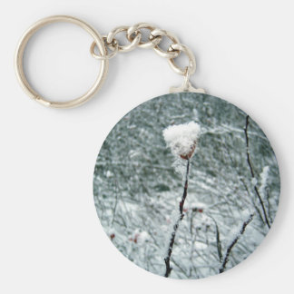 Snow Covered Red Berries 2 Key Chain
