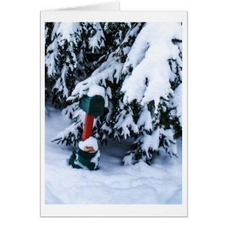 Snow Covered Rural Mailbox Card