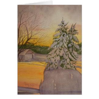 Snow Covered Shaffer Farm Card