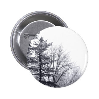 Snow-covered Trees: Horizontal 2 Inch Round Button