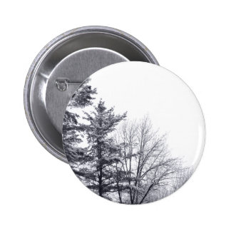 Snow-covered Trees: Vertical 2 Inch Round Button