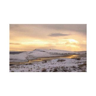 Snow Covered Trotternish Ridge Toward Sundown Canvas Print
