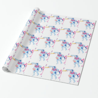 Snow Cows Wrapping Paper