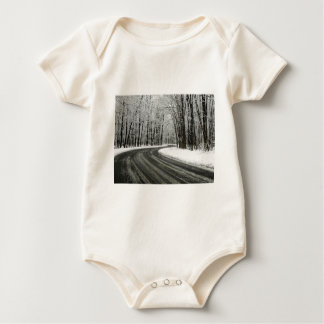 Snow Curved Winding Road Baby Bodysuit