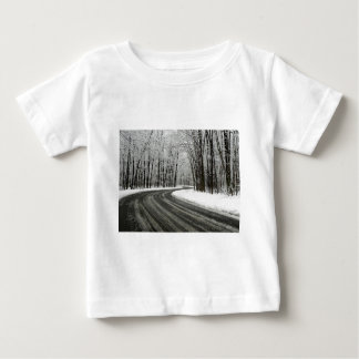 Snow Curved Winding Road Baby T-Shirt
