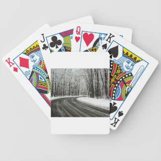 Snow Curved Winding Road Bicycle Playing Cards