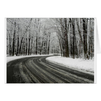 Snow Curved Winding Road Card