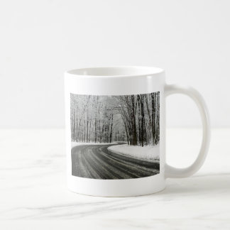 Snow Curved Winding Road Coffee Mug