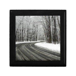 Snow Curved Winding Road Gift Box
