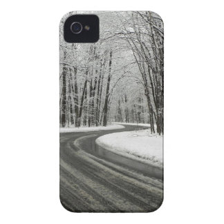 Snow Curved Winding Road iPhone 4 Case-Mate Cases