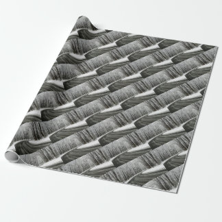 Snow Curved Winding Road Wrapping Paper