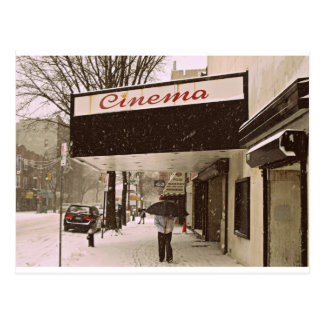 Snow Day At The Cinema Postcard