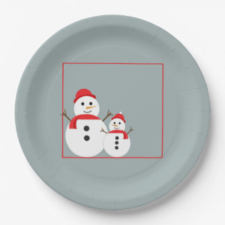 Snow Day Christmas Party Paper Plates