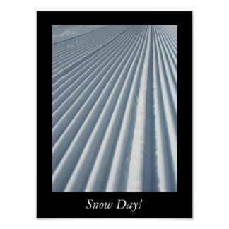 Snow Day Groomed Ski Trail Poster