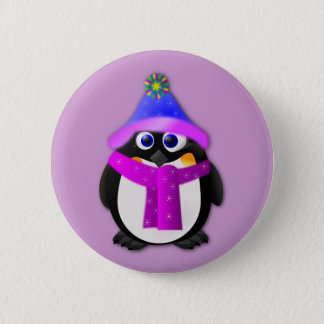 Snow Day Penguin 2 Inch Round Button