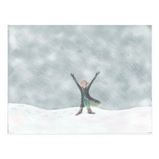 Snow Day!! Postcard