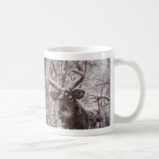 snow-deer coffee mug
