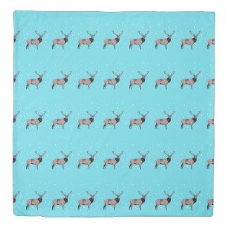 Snow Deer - Queen Duvet Cover