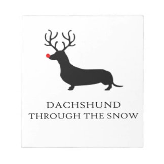 snow design cute notepad