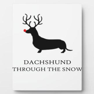 snow design cute plaque