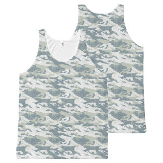 Snow disruptive camouflage All-Over-Print tank top