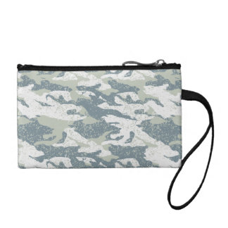 Snow disruptive camouflage coin purse