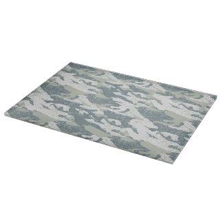 Snow disruptive camouflage cutting board