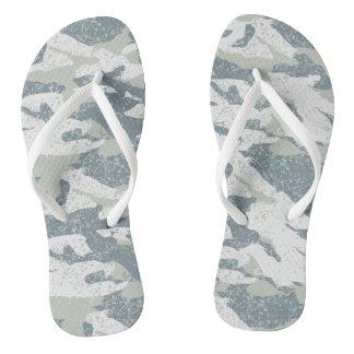 Snow disruptive camouflage flip flops