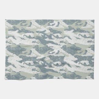 Snow disruptive camouflage kitchen towel