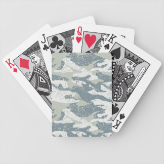 Snow disruptive camouflage poker deck