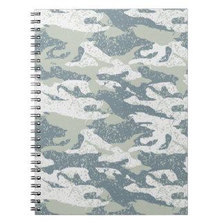 Snow disruptive camouflage spiral notebook