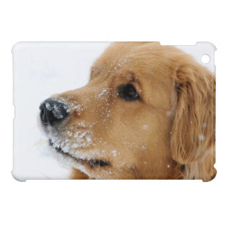 Snow Dog Golden Retriever iPad Mini Cover