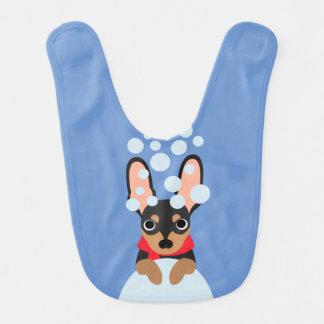 Snow Dog Min Pin Bib